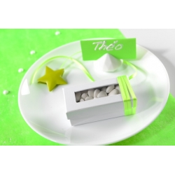 Boîte rectangulaire Fuchsia Sachet de  piees