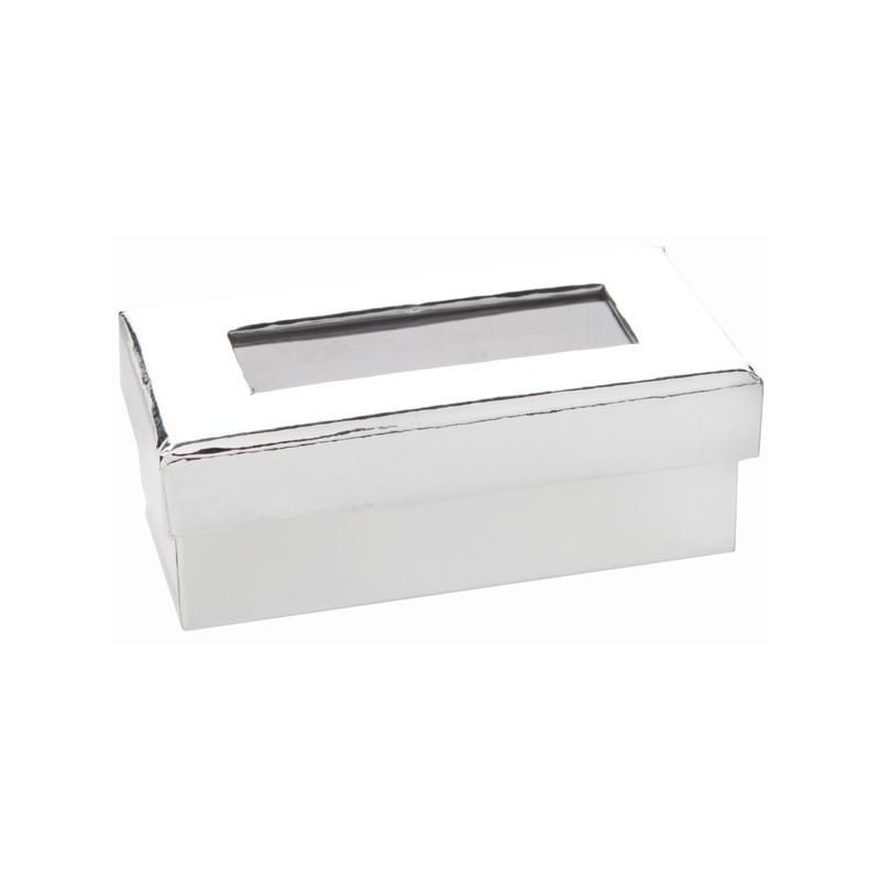 Boîte rectangulaire Argent Sachet de  piees