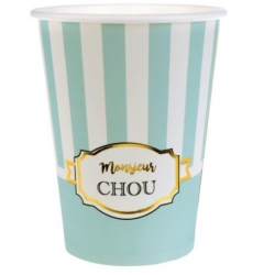 10 gobelets vert d'eau de la gamme Monsieur Chou