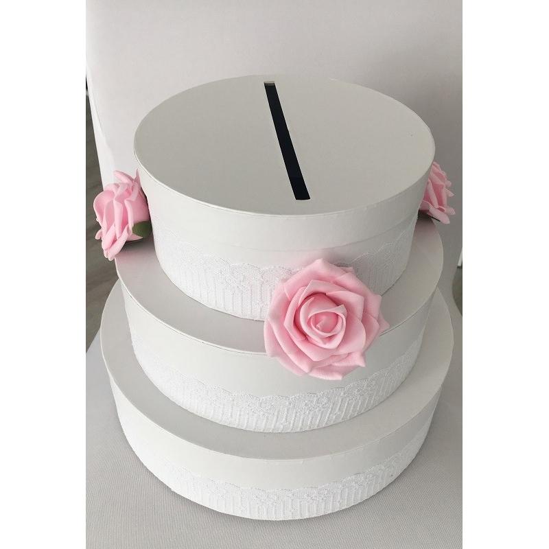 Urne gâteau avec roses