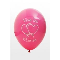 """Ballon imprime """"vive les maries""""  Fushia"""