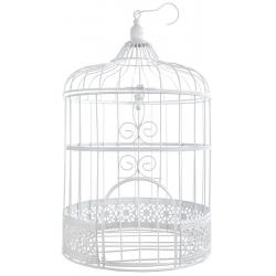 Tirelire cage blanche