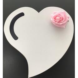 Urne coeur avec rose