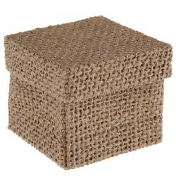 Boîte carrée naturelle Naturel (Sachet de 4 pièces)