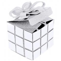 Boîte cube Noël Blanc (Sachet d'1 pièce)