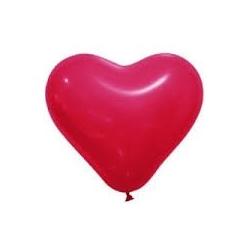 Ballon opaque forme coeur  Rouge