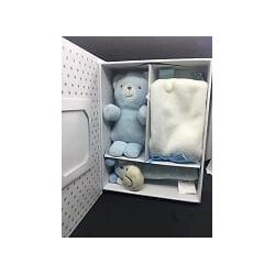 boite cadeau naissance bleu