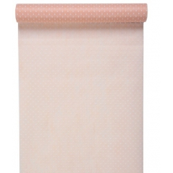 chemin de table plumetis rose