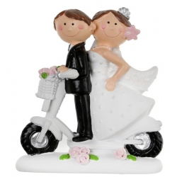 Figurine Mr & Mme à scooter