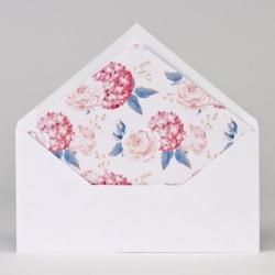 Faire-part pochette fleurie