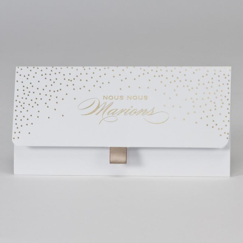 Faire-part Confettis dorés