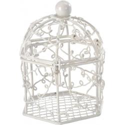 Bonbonnière cage Blanc (Sachet de 2 pièces)