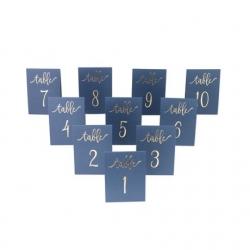 10 marques-tables de 1 à 10