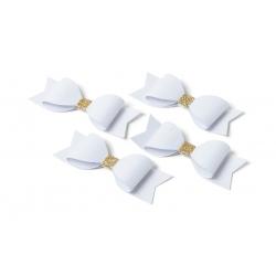 Nœuds papillons blanc et or