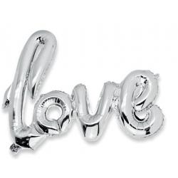 """Ballon """"Love"""" Argent"""
