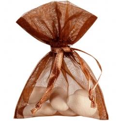 Grand sachet organdi Chocolat