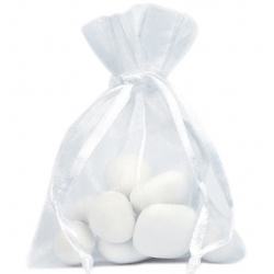 Grand sachet organdi Blanc