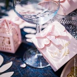 """10 boites à dragées Roses """"mots d'amour"""""""