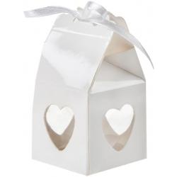 Boîte coeur Blanc (Sachet de 4 pièces)