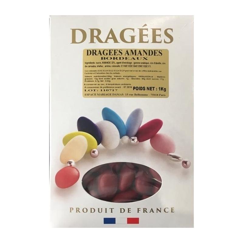 Dragées amandes bordeaux 1 kg