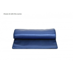 Chemin de table bleu marine