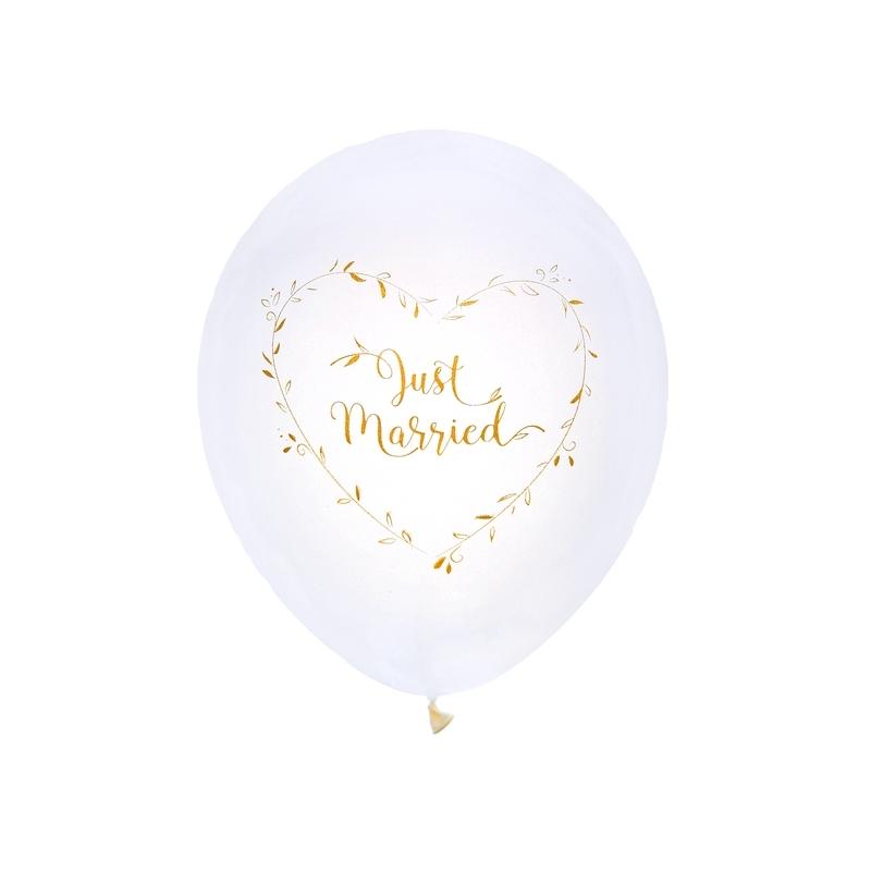 Ballon Just married métallisé