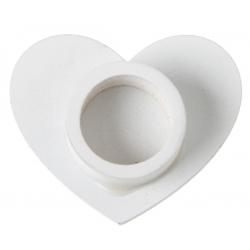Support éprouvette cœur blanc