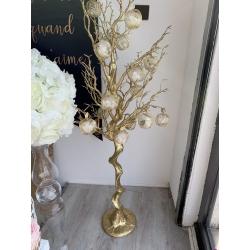 arbre decoration dore