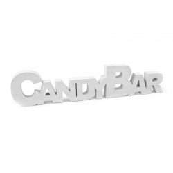 Lettre candy bar blanc.