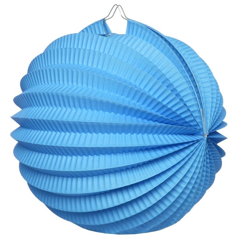 Boule déco accordéon Turquoise