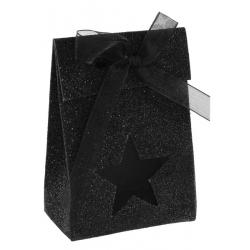 Boîte étoile pailletée Noir (Sachet de 4 pièces)