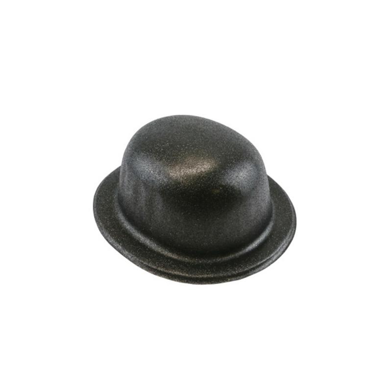Chapeau melon paillettes noires