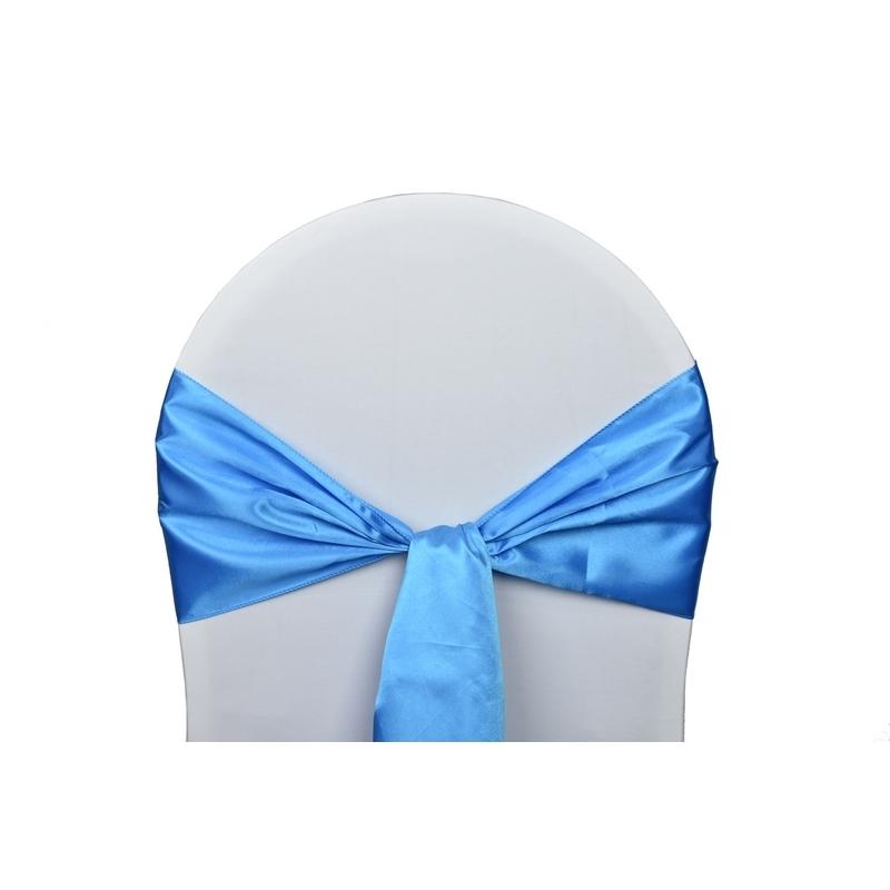 Location Noeuds de chaises Satin-Turquoise