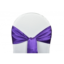 Location Noeuds de chaises Satin-Violet