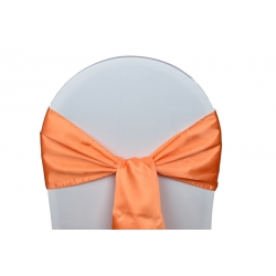 Location Noeuds de chaises Satin-Orange
