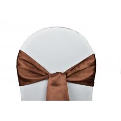 25 Noeuds de chaises Satin-Chocolat