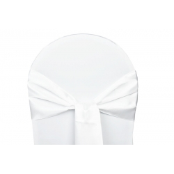 Location Nœuds de chaises Satin Blanc