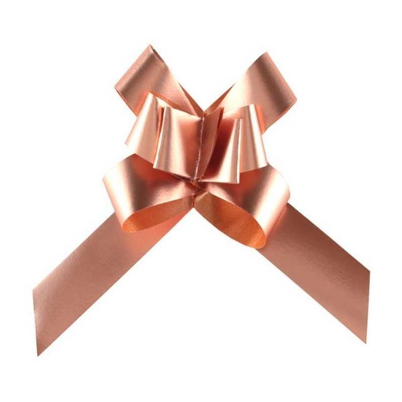 Nœud a tirer forme papillon (x2) Rose Gold