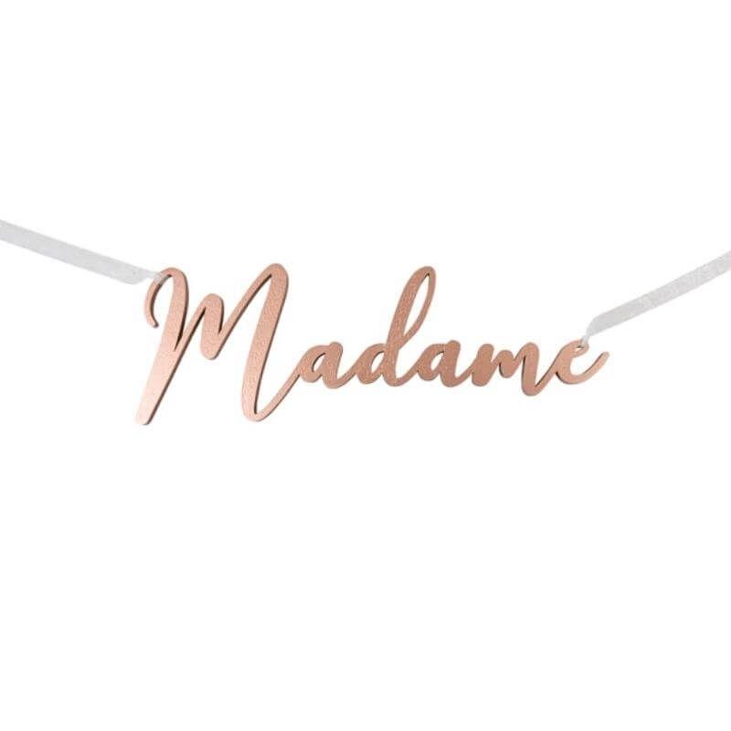 Décoration de chaise Rose Gold Madame