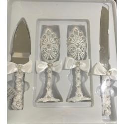 Kit mariage couteau et coupes