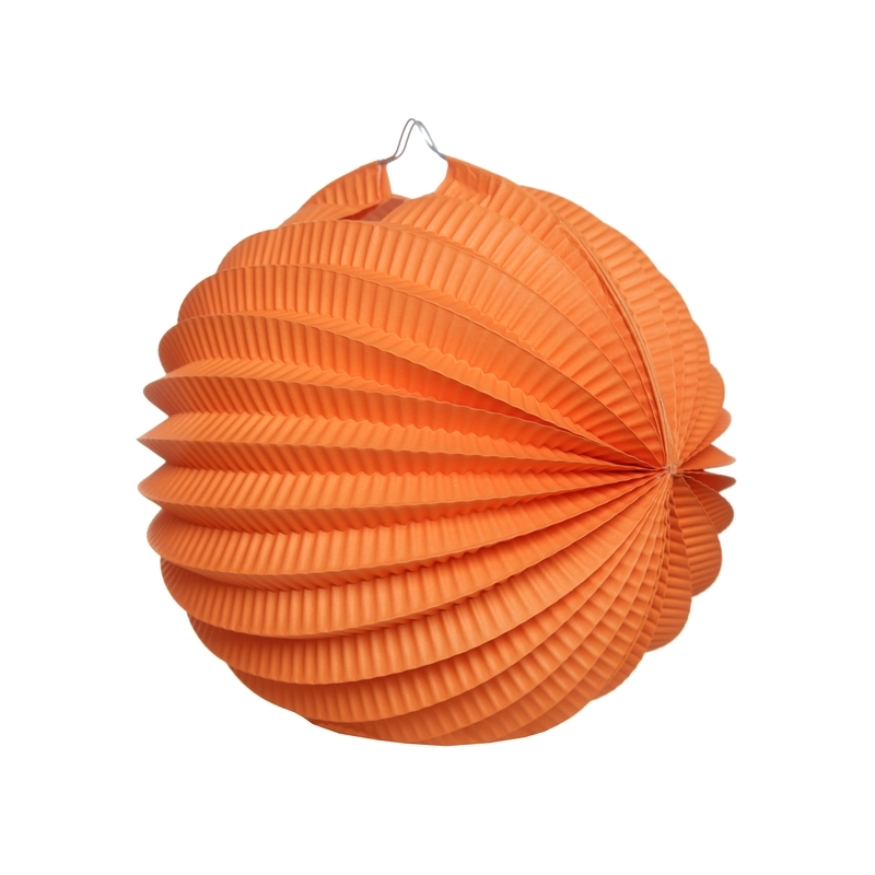 Boule décoration accordéon orange