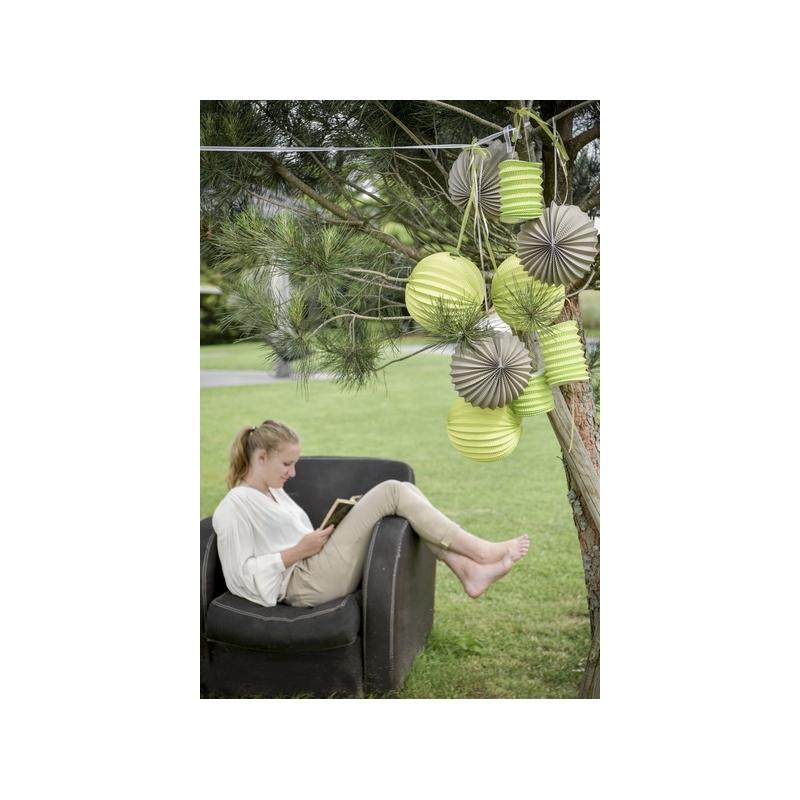 Boule décoration accordéon vert