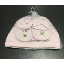Bonnet et chausson bébé 0-3 mois