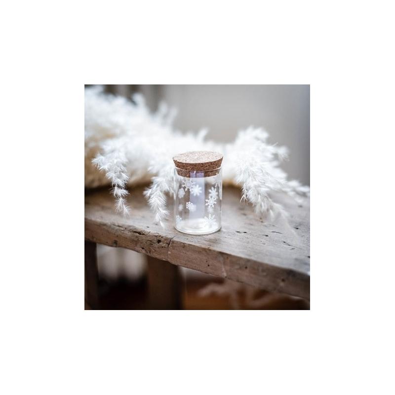 Fiole en verre avec flocon