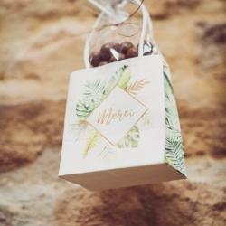 6 sacs à goodies Merci tropical