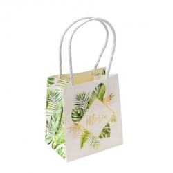 sacs goodies merci tropical papier