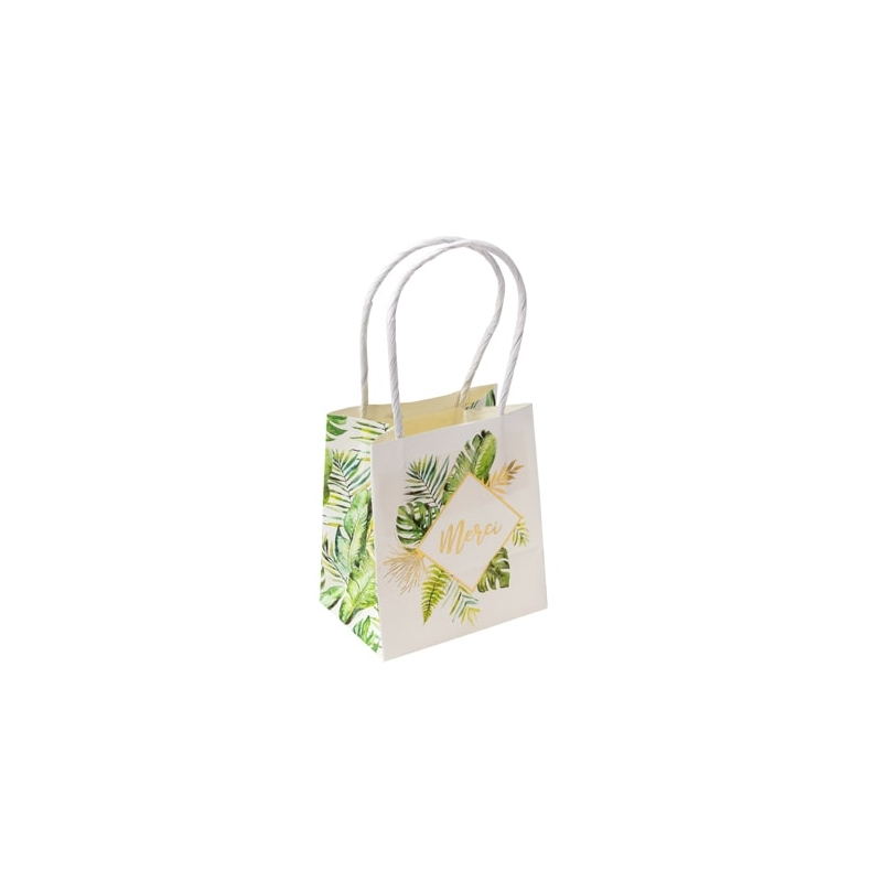 sacs goodies merci tropical papier