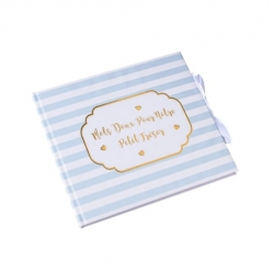 livre d'or petit trésor bleu rayé