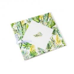 livre d'or tropical et dorure papier