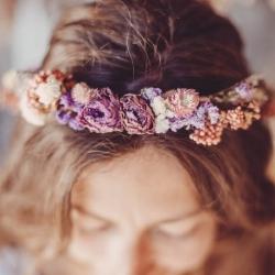 couronne de fleurs sechees degrade
